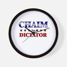 CHAIM for dictator Wall Clock