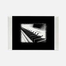 Down The Piano Keys (B&W Nega Rectangle Magnet