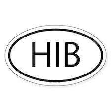 HIB Oval Decal