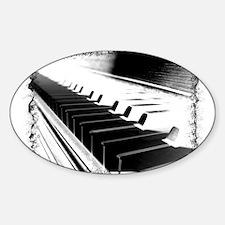 Down The Piano Keys (B&W Nega Oval Decal
