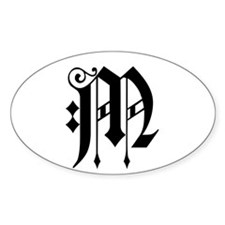 MONOGRAM M Oval Decal