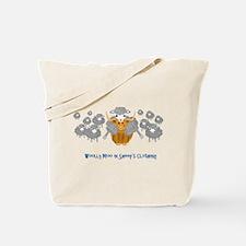 woolly moo in sheep's Tote Bag