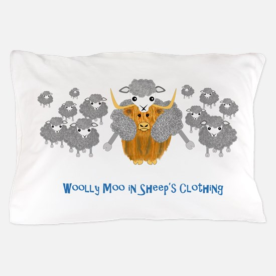 woolly moo in sheep's Pillow Case