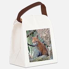 Cute Fox head Canvas Lunch Bag