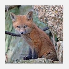 Funny Fox head Tile Coaster