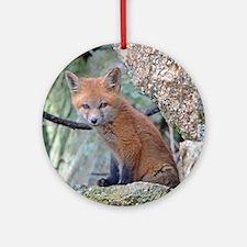 Wildlife Fox Round Ornament