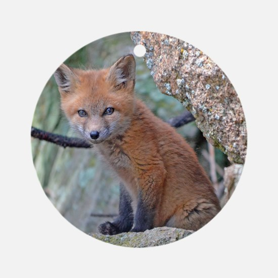 Wildlife Fox Round Ornament