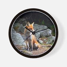 Wildlife Fox Wall Clock
