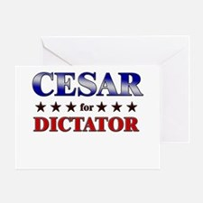 CESAR for dictator Greeting Card