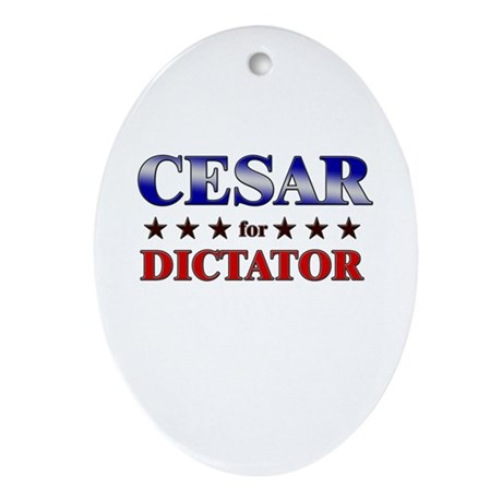 CESAR for dictator Oval Ornament