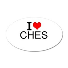 I Love Chess Wall Decal