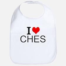 I Love Chess Bib