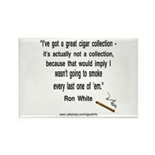 Ron White Cigar Rectangle Magnet