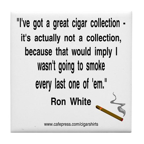 Ron White Cigar Tile Coaster