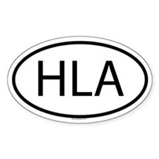 HLA Oval Decal