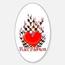 Heart in Flames Oval Decal