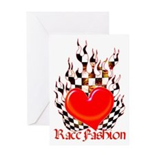 Heart in Flames Greeting Card