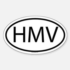 HMV Oval Decal
