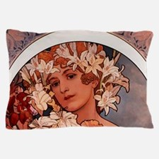 Woman of Mucha Pillow Case