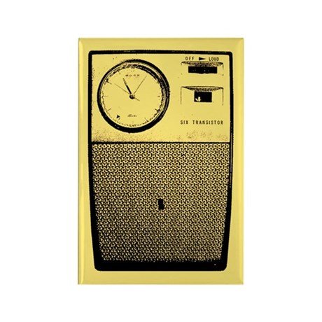 Transistor Radio Rectangle Magnet (b)