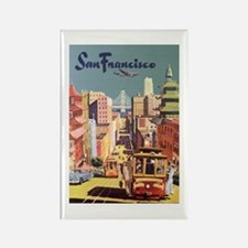 Vintage Travel Poster San Francisco Magnets