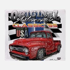 1955 Truck USA Throw Blanket