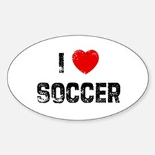 I * Soccer Rectangle Decal