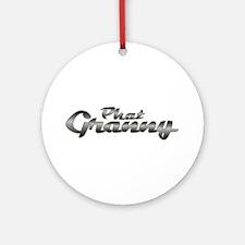Phat Granny Ornament (Round)