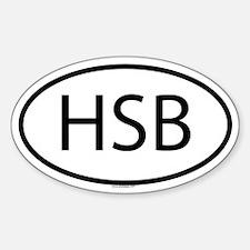 HSB Oval Decal