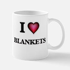 I Love Blankets Mugs
