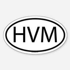 HVM Oval Decal