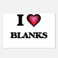 I Love Blanks Postcards (Package of 8)