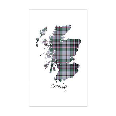 Map - Craig Sticker (Rectangle)