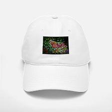 Butterfly and Flower - digital Artwork Baseball Baseball Cap