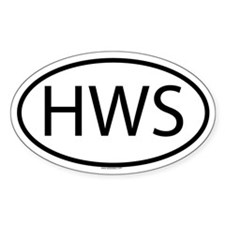 HWS Oval Decal