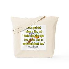 Winston Churchill Cigar Quote Tote Bag