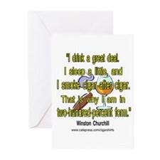 Winston Churchill Cigar Quote Greeting Cards (Pk o