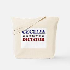 CECELIA for dictator Tote Bag