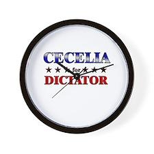CECELIA for dictator Wall Clock