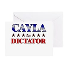 CAYLA for dictator Greeting Card