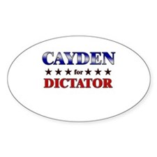 CAYDEN for dictator Oval Decal