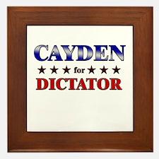 CAYDEN for dictator Framed Tile