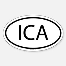 ICA Oval Decal