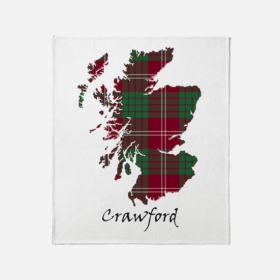 Map - Crawford Throw Blanket