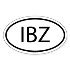 IBZ Oval Decal