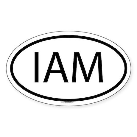 IAM Oval Sticker