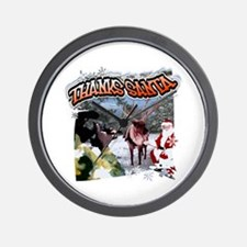 Thanks Santa holiday hunting  Wall Clock