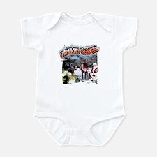 Thanks Santa holiday hunting  Infant Bodysuit