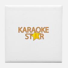 Karaoke STAR Tile Coaster