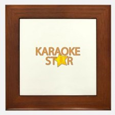 Karaoke STAR Framed Tile